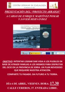 Lee más sobre el artículo Este viernes 7 de abril, charla sobre la despoblación en el Centro Soriano de Zaragoza