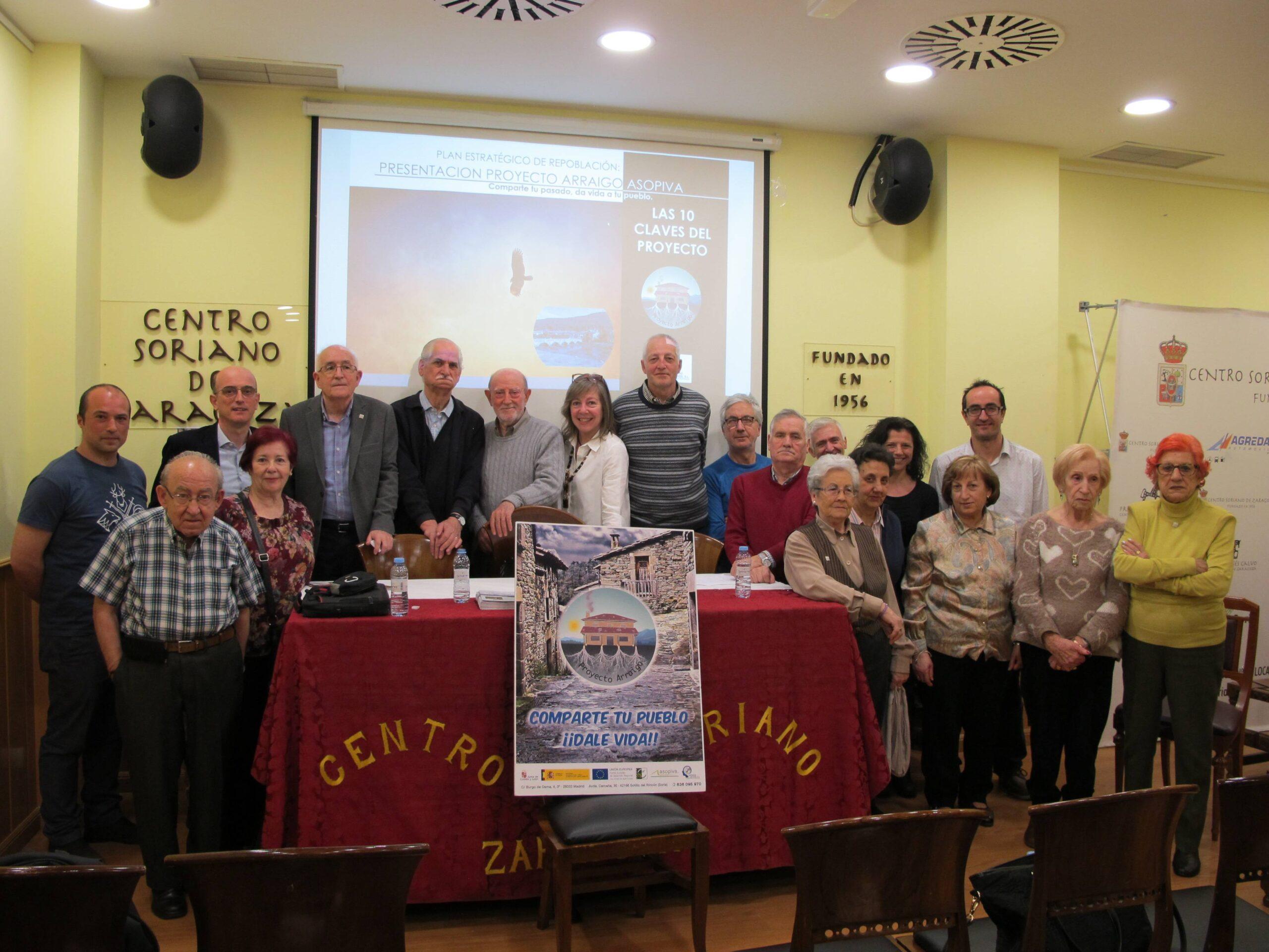 Presentación de Proyecto Arraigo en el Centro Soriano de Zaragoza